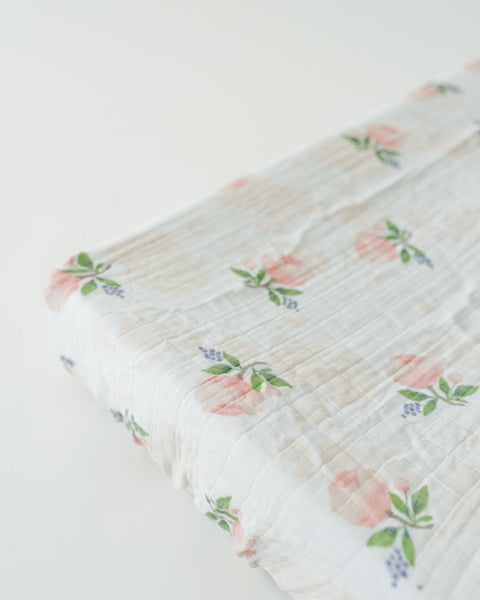 Watercolor Rose Changing Pad Cover