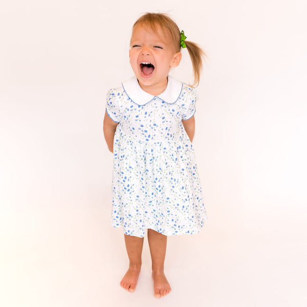 Arabella Blue Floral Dress