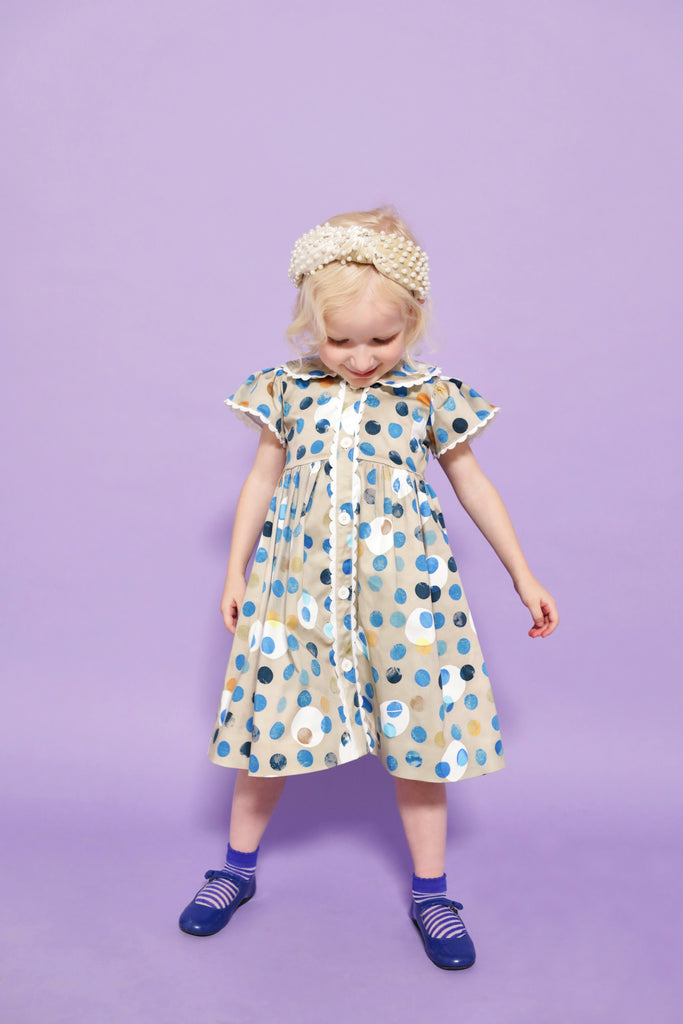 Polka Dot Creme Harper Dress