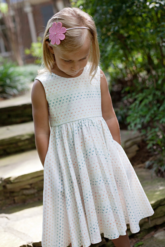 Charming Mary Birdie Pocket Twirl Dress- Heartful