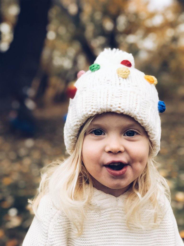 The Blueberry Hill Percy Rainbow Dot Beanie Hat