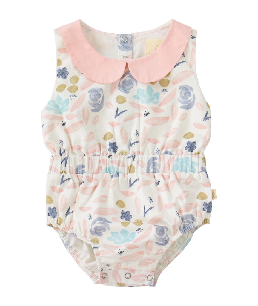 charming mary teggy bubble in pink blue aqua painted floral