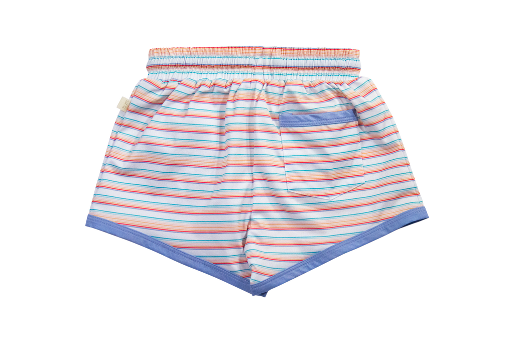 Swim Trunk- Retro Rainbow Stripe