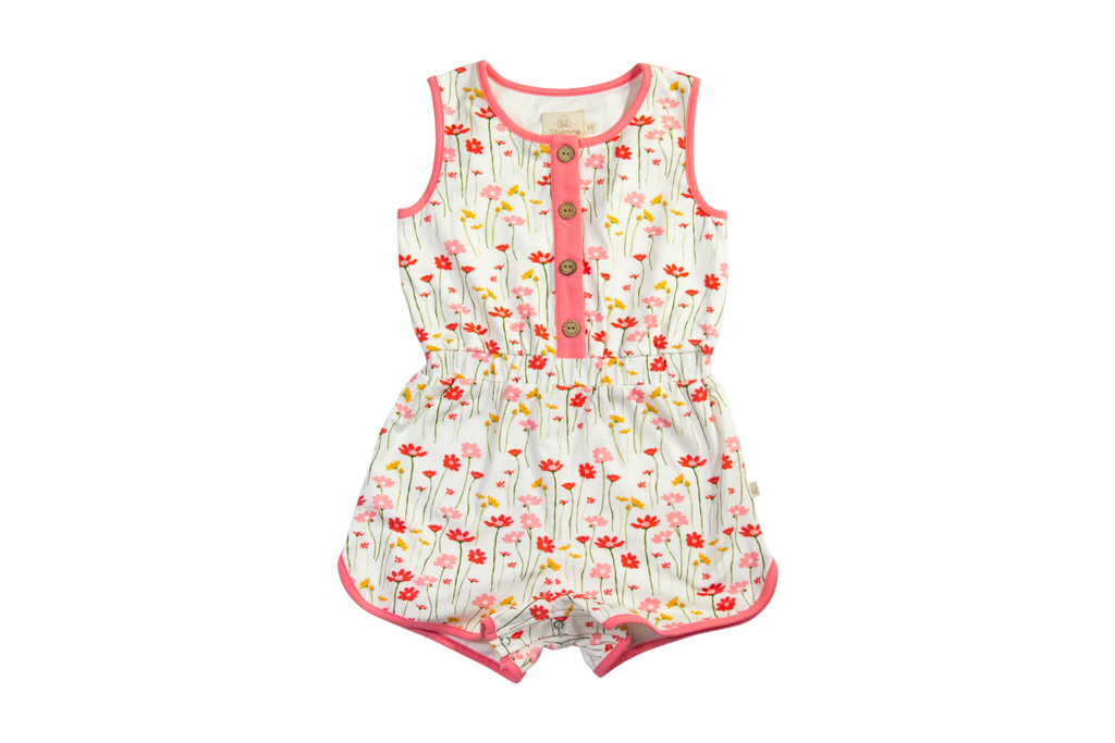Charming Mary Luna Romper- Mary's Garden Little birdies