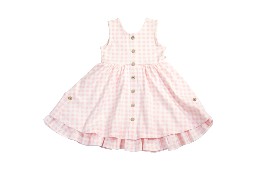 Charming Mary Chessie Twirl Dress- Pink Picnic Gingham
