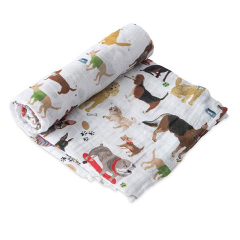 little unicorn official woof swaddle blanket - little birdies boutique