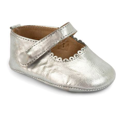 Gold Mary Jane Crib Shoe