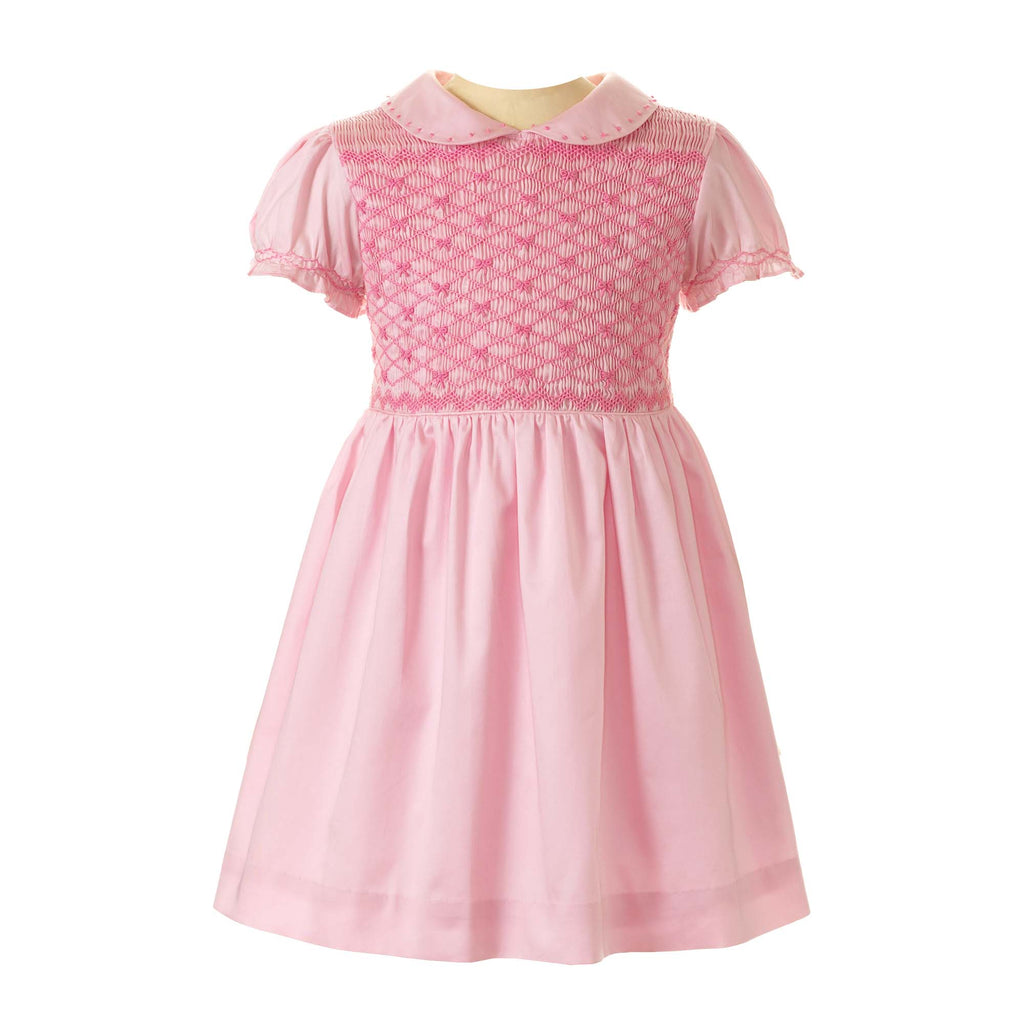 Pink Smocked Rachel Riley Dress