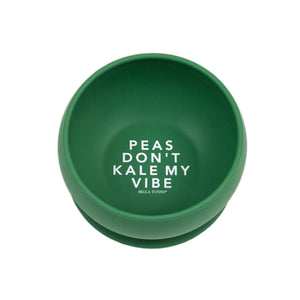bella tunno silicone suction bowl 'peas don't kale my vibe' little birdies boutique