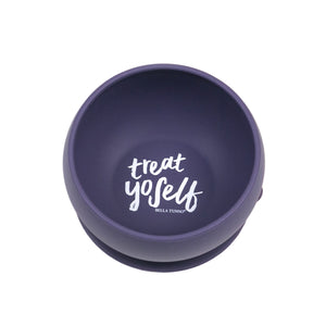 bella tunno treat yoself suction bowl in purple