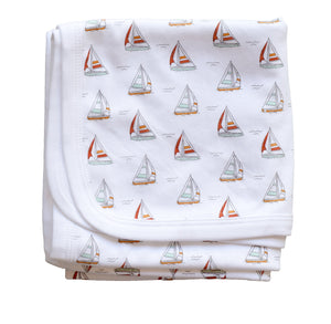 pineapple sunshine pima cotton sailboat blanket