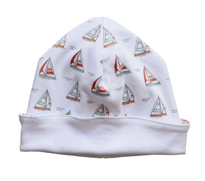 pineapple sunshine sailboat newborn pima cotton hat