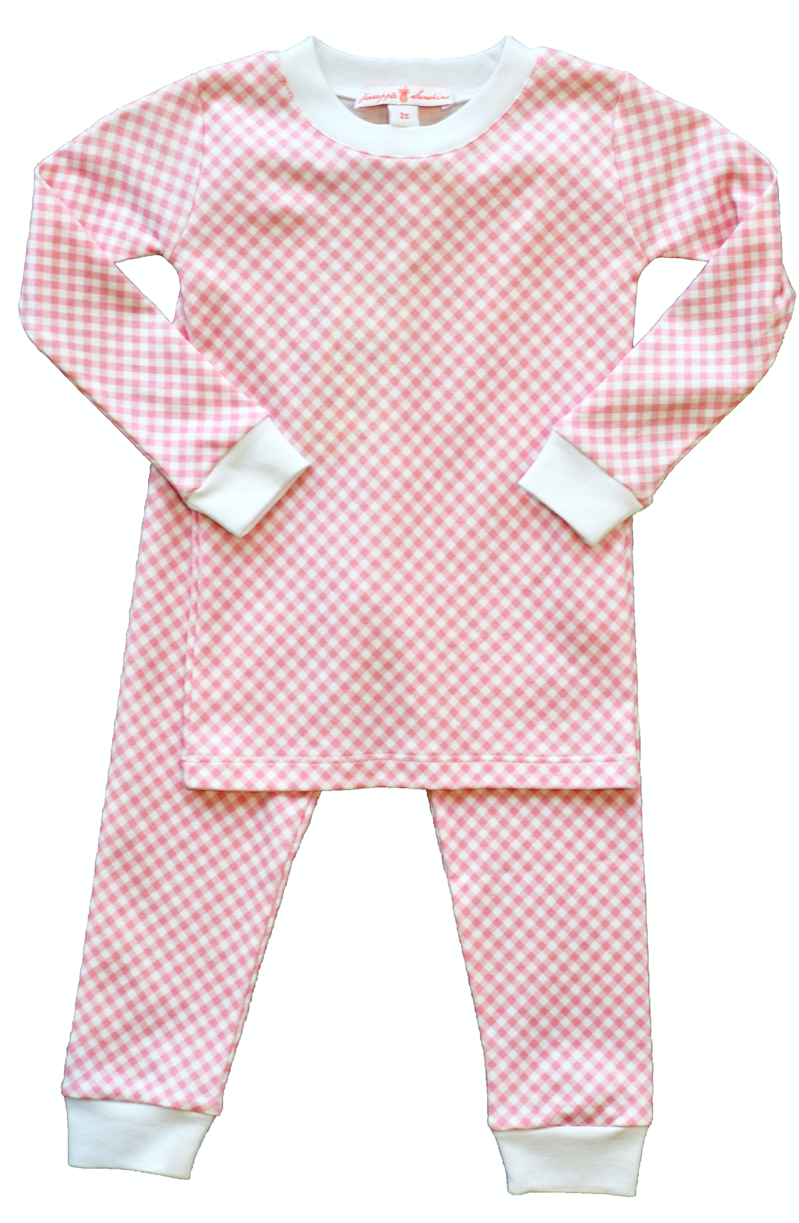 pineapple sunshine pink gingham pajama