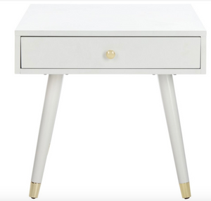 safavieh levinson white side table nightstand