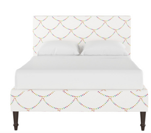 Gray Malin x Cloth and Company Rowan Platform Bed in Bunting Scallop Multi