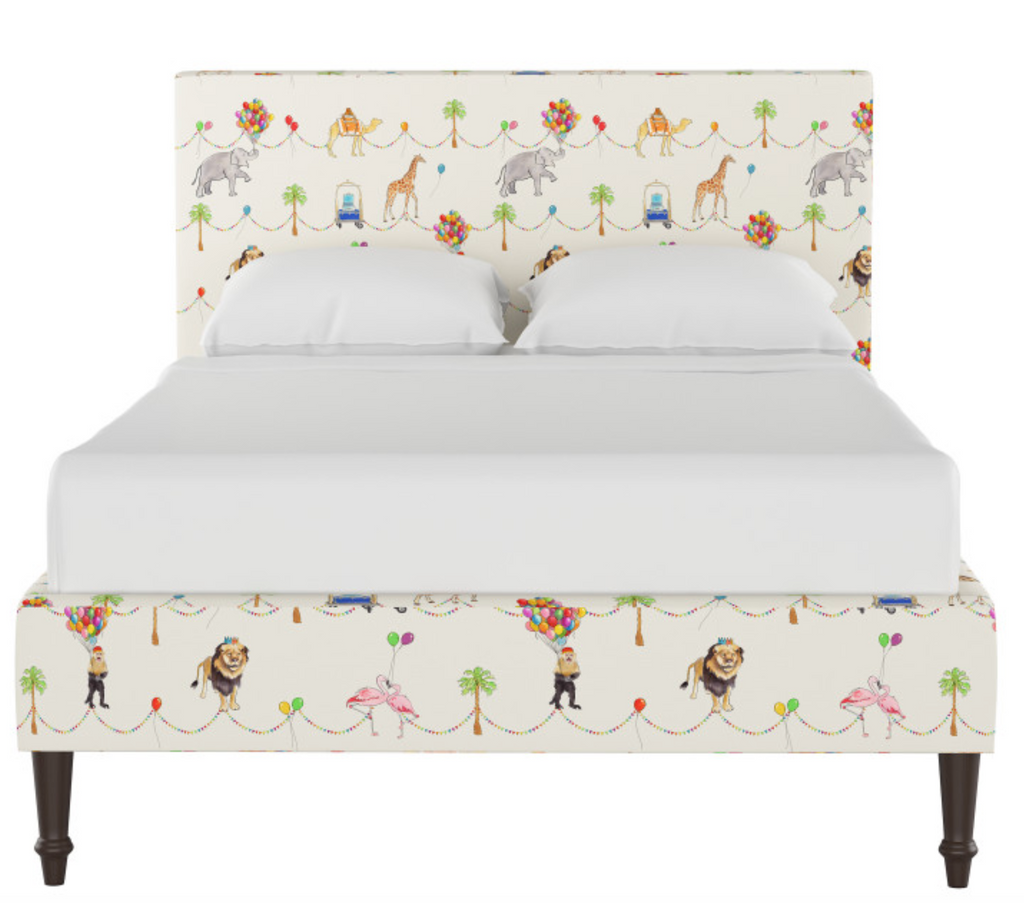 gray malin x cloth and company parker parade platform bed
