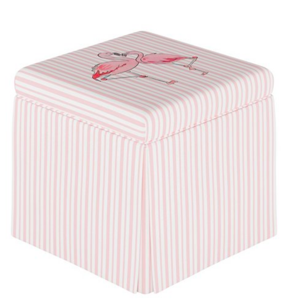 cloth and company x gray malin flamingo storage bench
