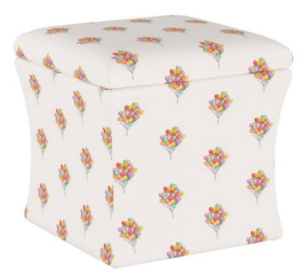 Storage Ottoman- Balloon Bouquet Multi