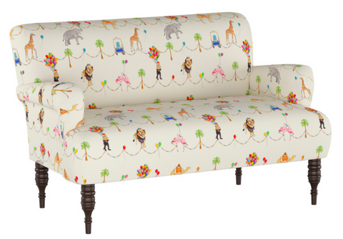 gray malin parker parade settee cloth and company kids room sofa
