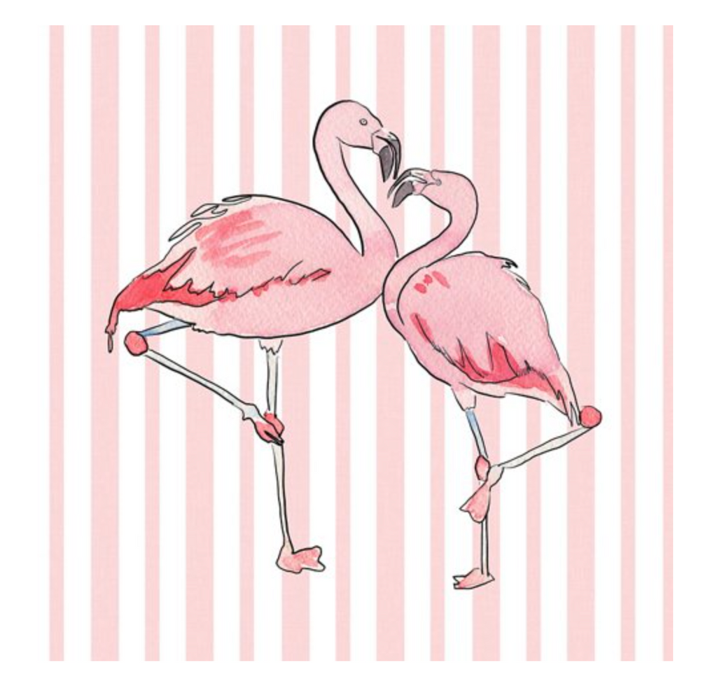 Flamingo Stripe Pillow