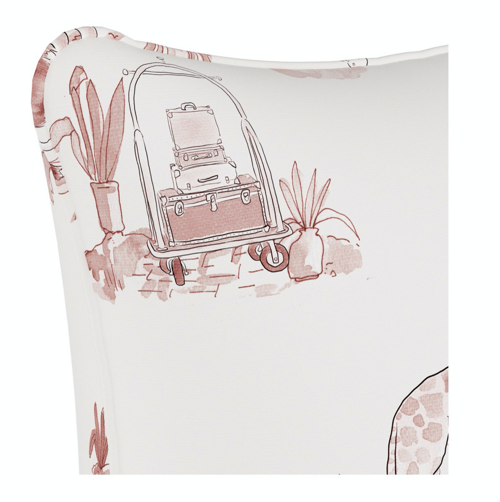 Pink Toile Pillow