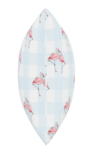Gingham Flamingo Pillow