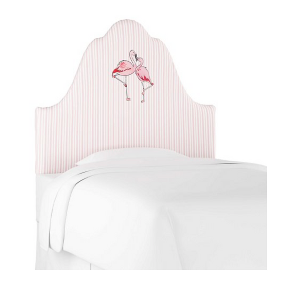 Flamingo Stripe Headboard