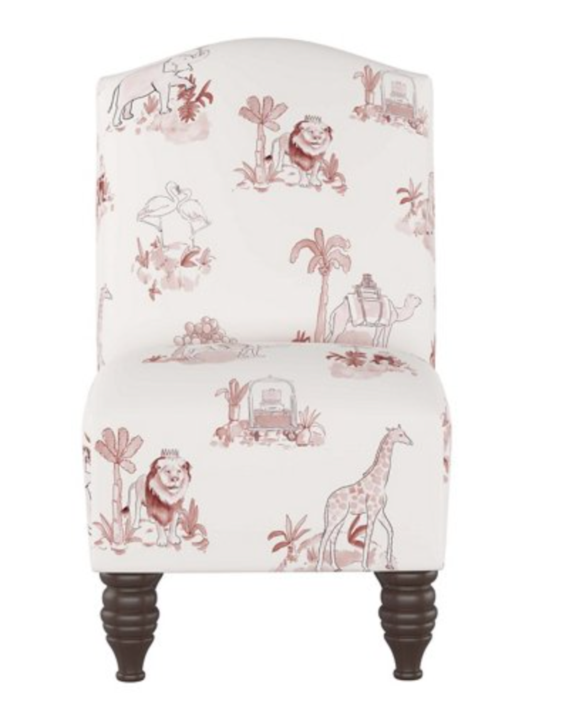 Pink Toile Kids' Chair