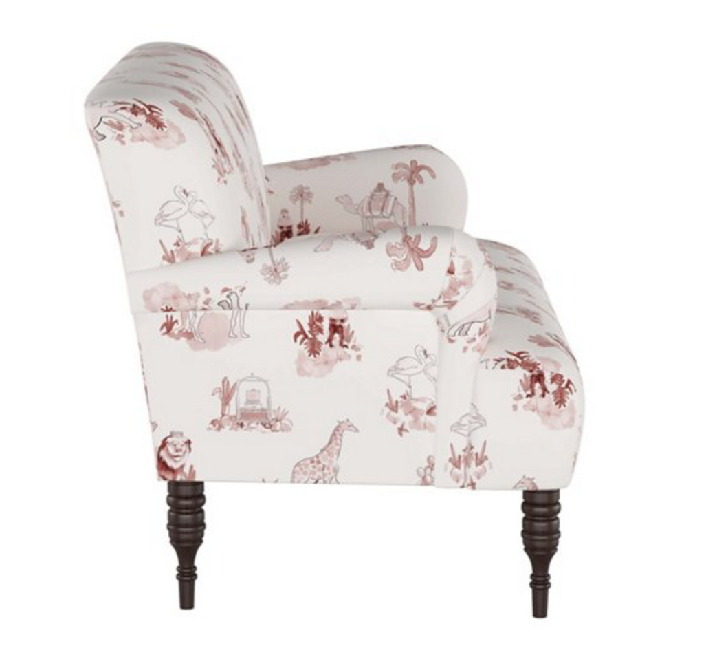 Settee- Pink Toile