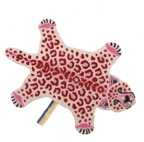 Pink Leopard Rug small doing goods