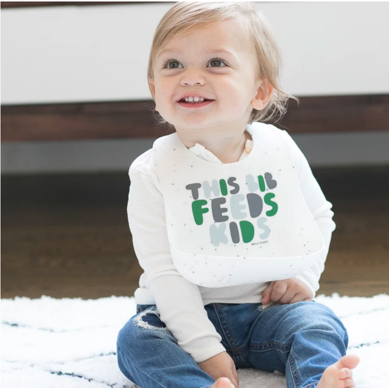This Bib Feeds Kids- Green