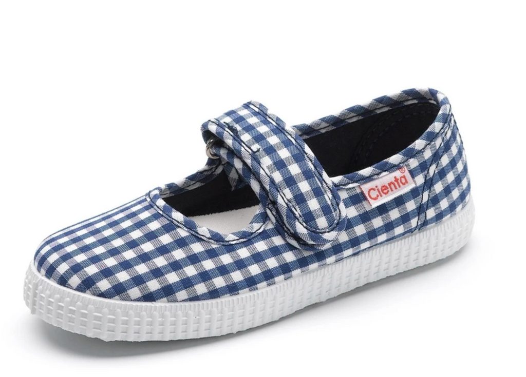 Cienta navy gingham mary jane