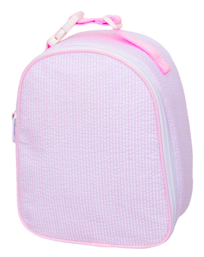 OhMInt pink seersucker lunch box