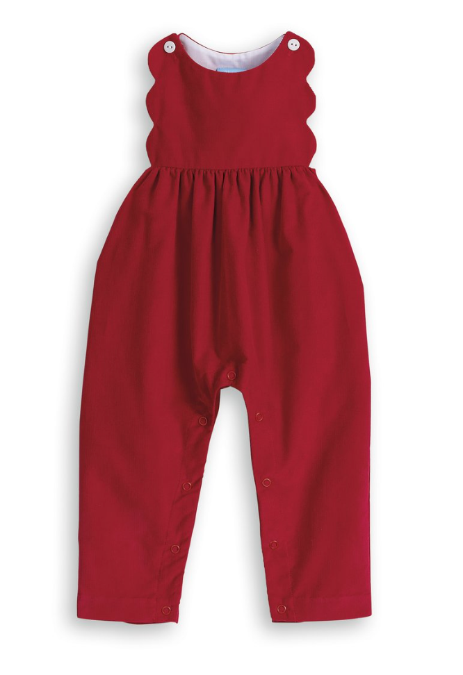 Holiday Scalloped Overall