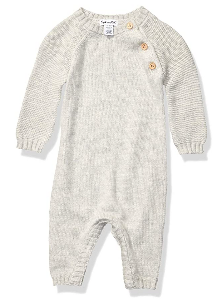 Grey Knit Coverall