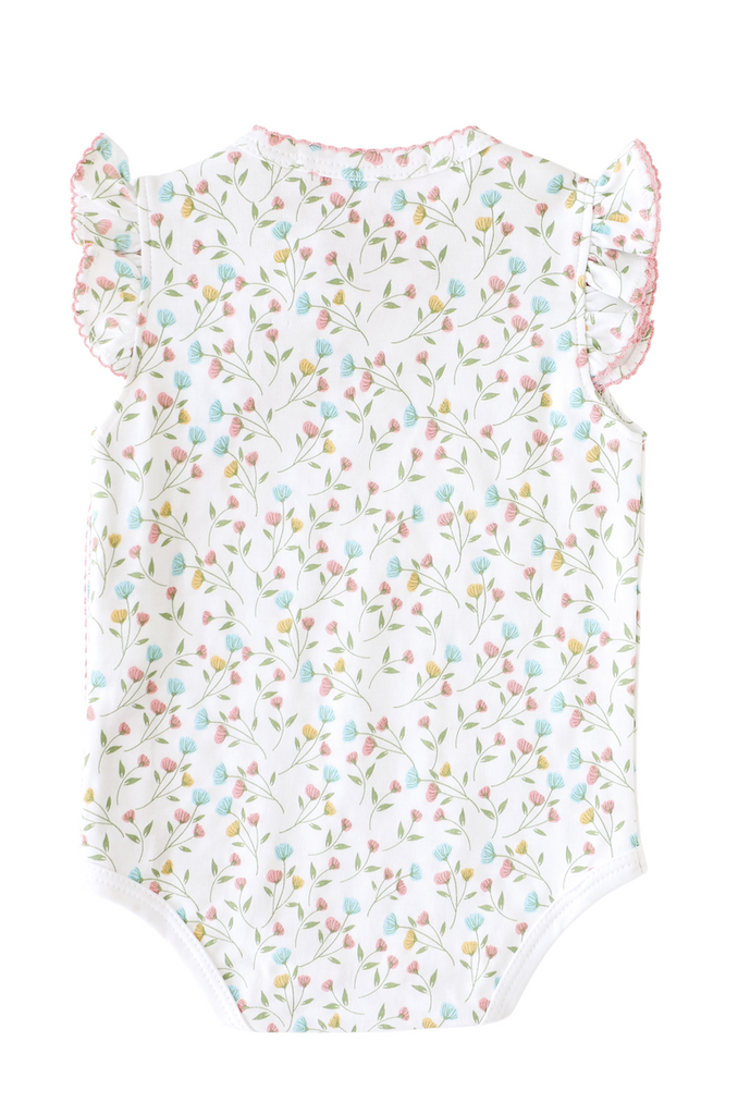 Pineapple Sunshine Pink Arabella Onesie with Bows