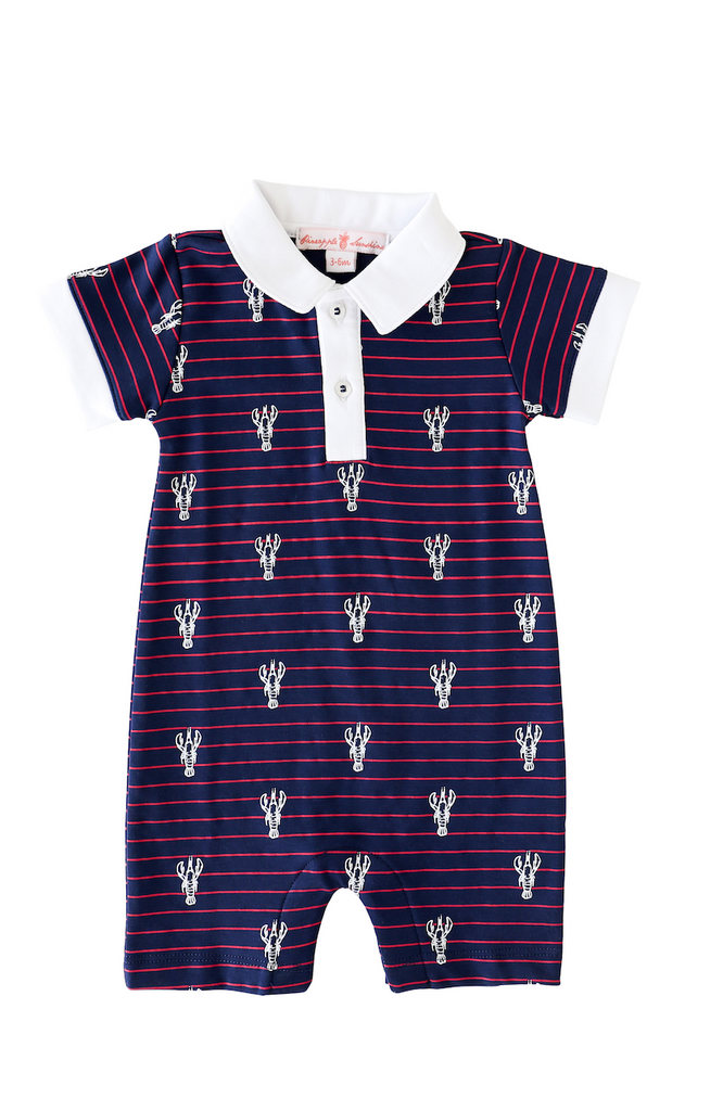 Pineapple Sunshine Lobster Stripe Romper