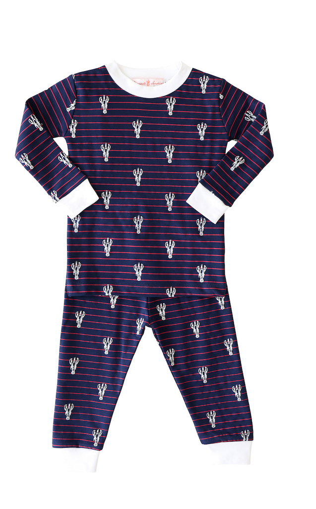 Pineapple Sunshine Lobster Stripe 2-Piece Pajama