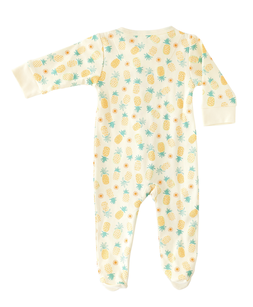 Pineapple Sunshine Pineapple Print Footie