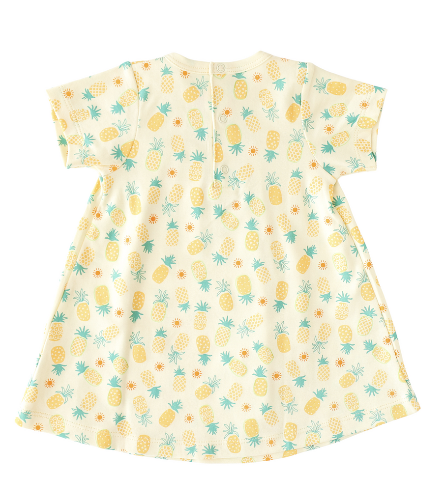Pineapple Sunshine Pineapple Print Swing Dress