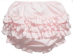 Baby Girls Pink Ruffle Knickers