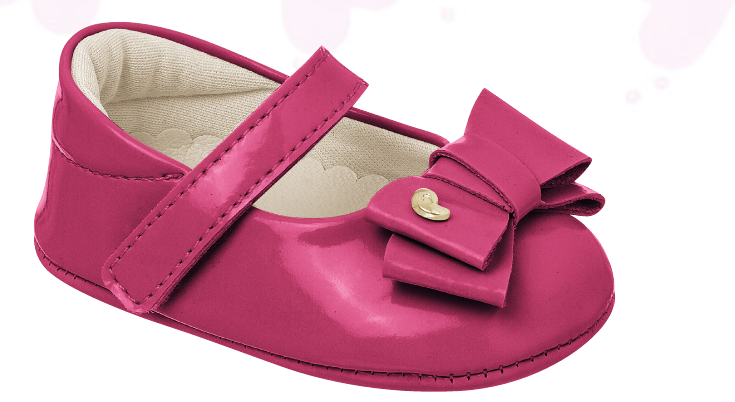 pampili baby girls hot pink crib shoe
