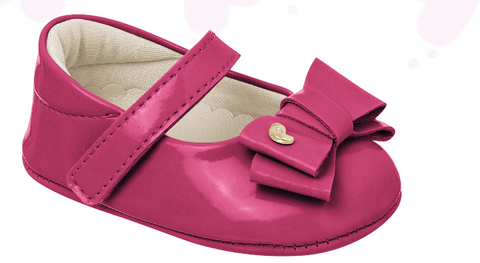 Nina Patent Bow Crib Shoe