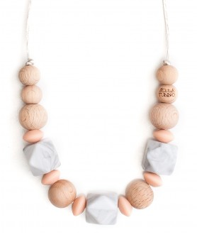Savannah Peach Teething Necklace