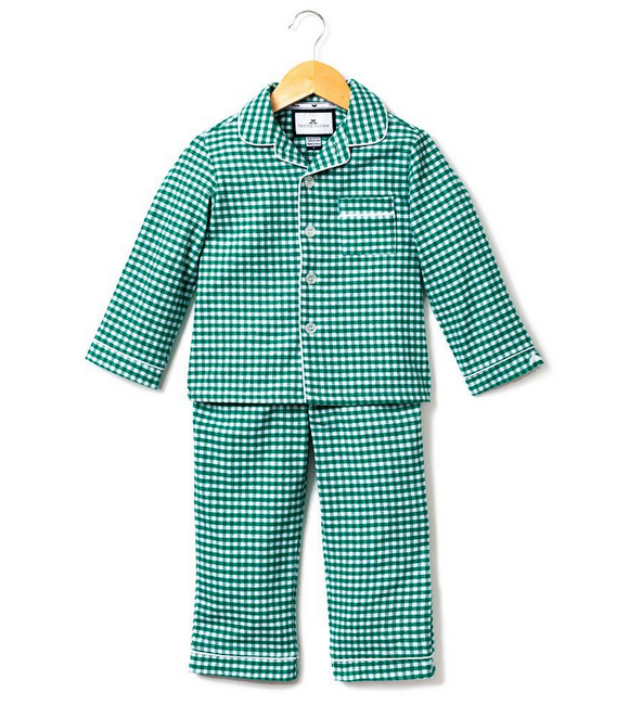 Green Gingham Flannel Pajamas
