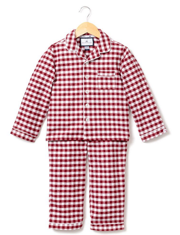 Burgundy Flannel Check Pajama