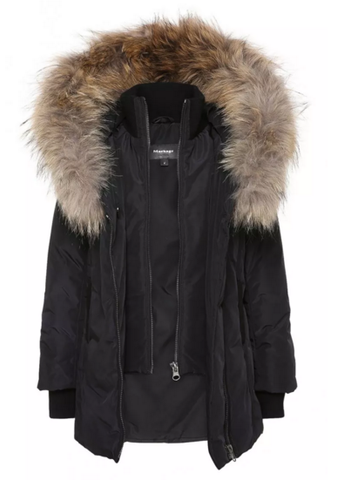 Leelee Winter Down Coat with Fur Hood