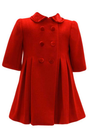 New York Girls Wool Classic Coat