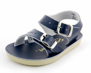 sunsan salt water sandal navy sea wee shoes little birdies boutique