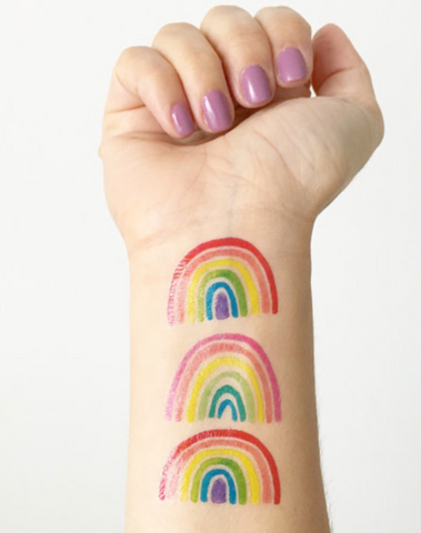 Mini Rainbow Temporary Tattoos
